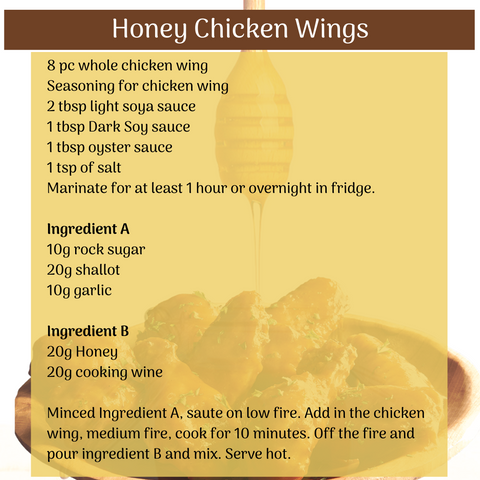 Honey chicken wing recipe