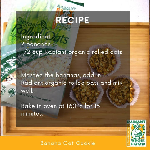 banana oat cookie recipe