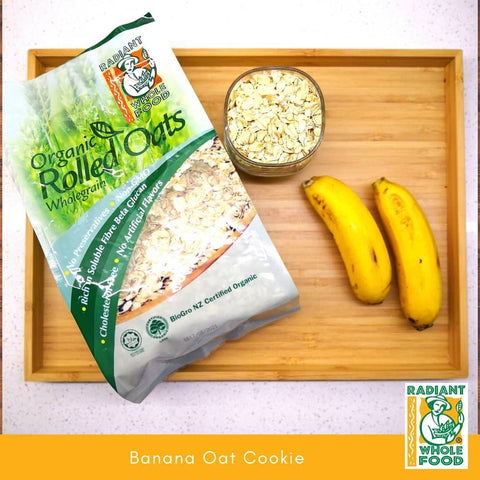 banana oat cookie 2-ingredient