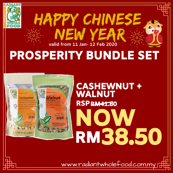 CNY - Natural Cashew nut + Natural walnut