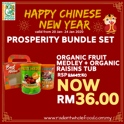 CNY - Organic Fruit Medley Tub + Organic Raisins Tub