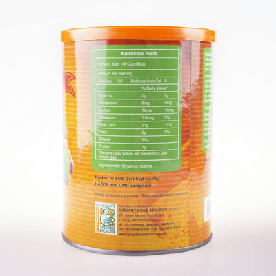Radiant Organic Raisins (Tub Container)