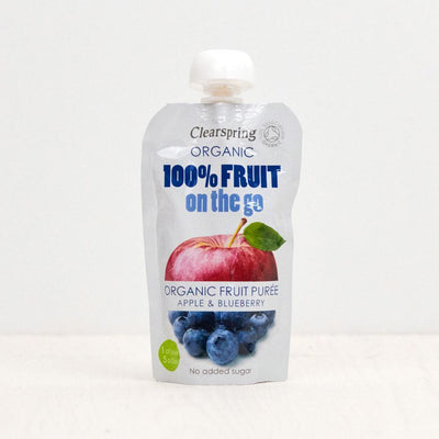 Clearspring Fruit On The Go - Apple & Blueberry (Pouch) Baby Pouches Radiant-Whole-Food-Organic-Delivery KL-PJ-Malaysia