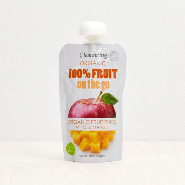Clearspring Fruit On The Go - Apple/Mango (Pouch) Baby Pouches Radiant-Whole-Food-Organic-Delivery KL-PJ-Malaysia