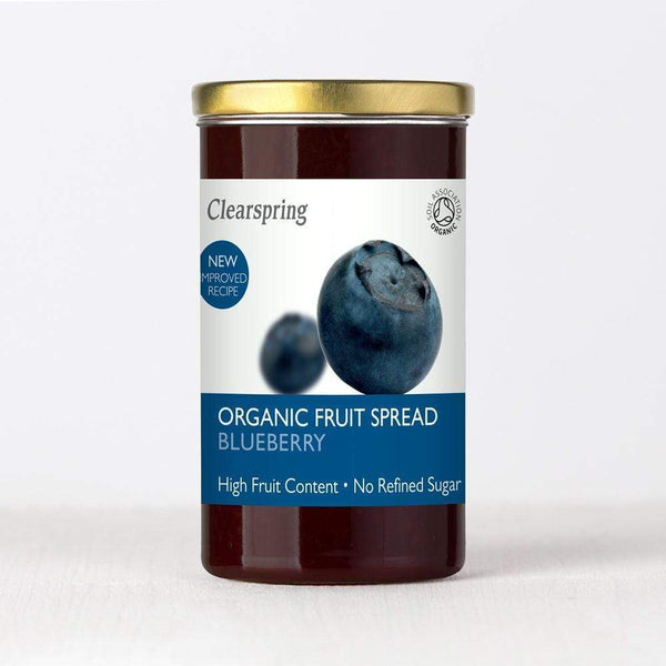 Clearspring Fruit Spread- Blueberry Jams & Spreads Radiant-Whole-Food-Organic-Delivery KL-PJ-Malaysia
