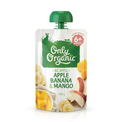 Only Organic Apple Banana & Mango Baby Pouches Radiant-Whole-Food-Organic-Delivery KL-PJ-Malaysia