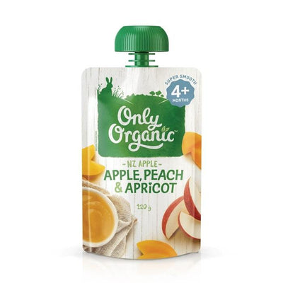 Only Organic Apple Peach & Apricot Baby Pouches Radiant-Whole-Food-Organic-Delivery KL-PJ-Malaysia