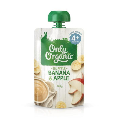 Only Organic Banana And Apple Smoothie Baby Pouches Radiant-Whole-Food-Organic-Delivery KL-PJ-Malaysia