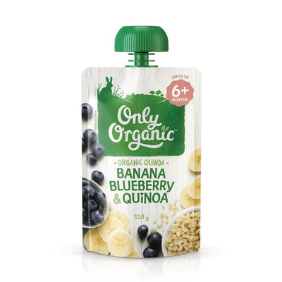 Only Organic Banana Blueberry & Quinoa Baby Pouches Radiant-Whole-Food-Organic-Delivery KL-PJ-Malaysia