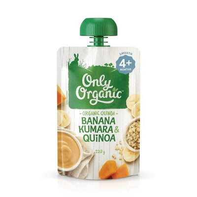 Only Organic Banana Kumara & Quinoa Baby Pouches Radiant-Whole-Food-Organic-Delivery KL-PJ-Malaysia