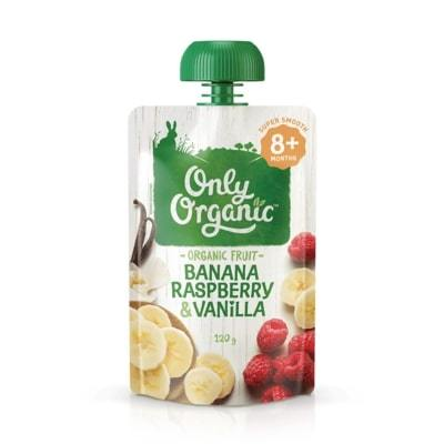 Only Organic Banana Raspberry & Vanilla Baby Pouches Radiant-Whole-Food-Organic-Delivery KL-PJ-Malaysia