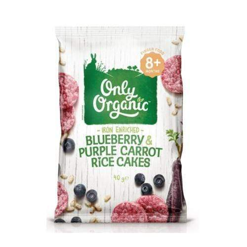 Only Organic Blueberry & Purple Carrot Rice Cakes Baby Snacks Radiant-Whole-Food-Organic-Delivery KL-PJ-Malaysia