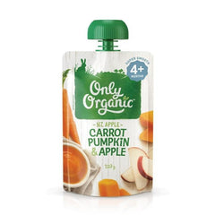 Only Organic Carrot Pumpkin & Apple Baby Pouches Radiant-Whole-Food-Organic-Delivery KL-PJ-Malaysia