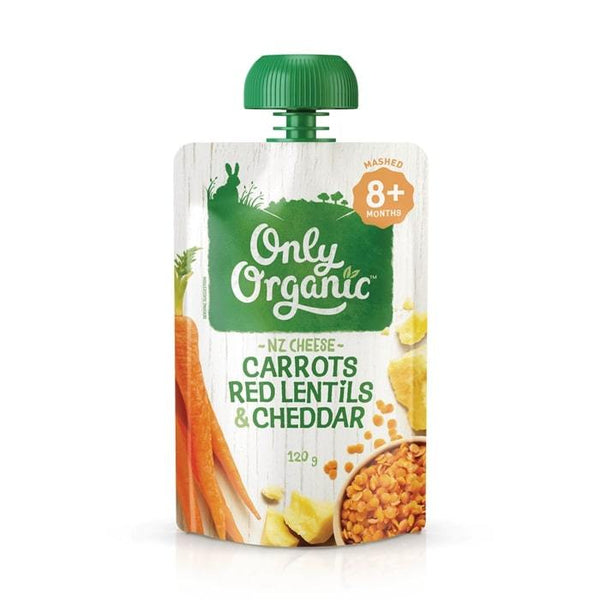 Only Organic Carrots Red Lentil & Cheddar Baby Pouches Radiant-Whole-Food-Organic-Delivery KL-PJ-Malaysia