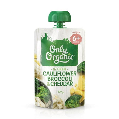 Only Organic Cauliflower Broccoli & Cheddar Baby Pouches Radiant-Whole-Food-Organic-Delivery KL-PJ-Malaysia