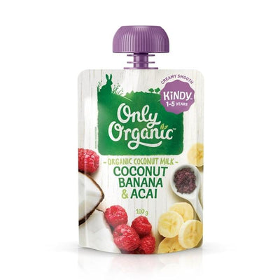 Only Organic Coconut Banana & Acai Smoothie Baby Pouches Radiant-Whole-Food-Organic-Delivery KL-PJ-Malaysia