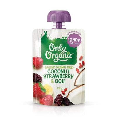 Only Organic Coconut Strawberry & Gojiberry Smoothie Baby Pouches Radiant-Whole-Food-Organic-Delivery KL-PJ-Malaysia