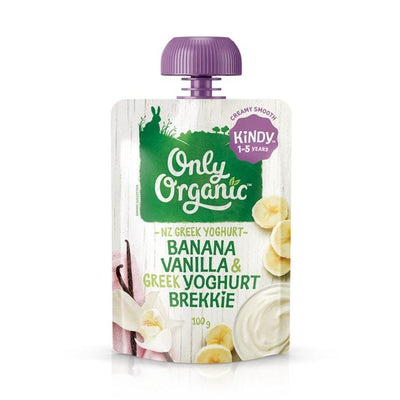 Only Organic Kindy Banana Vanilla & Greek Yogurt Brekkie Baby Pouches Radiant-Whole-Food-Organic-Delivery KL-PJ-Malaysia