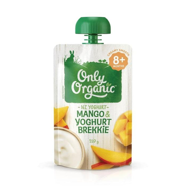 Only Organic Mango & Yogurt Brekkie Baby Pouches Radiant-Whole-Food-Organic-Delivery KL-PJ-Malaysia