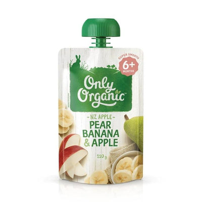 Only Organic Pear Banana & Apple Baby Pouches Radiant-Whole-Food-Organic-Delivery KL-PJ-Malaysia