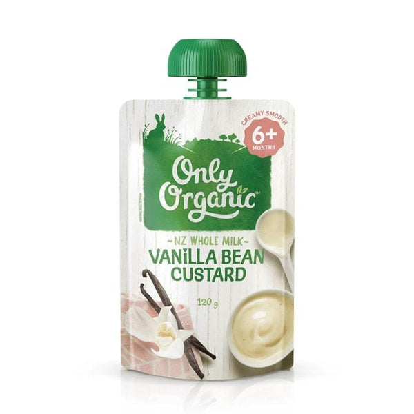 Only Organic Vanilla Bean Custard Baby Pouches Radiant-Whole-Food-Organic-Delivery KL-PJ-Malaysia