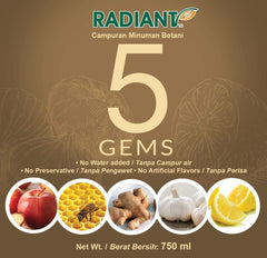 Radiant 5 Gems Supplements Radiant-Whole-Food-Organic-Delivery KL-PJ-Malaysia