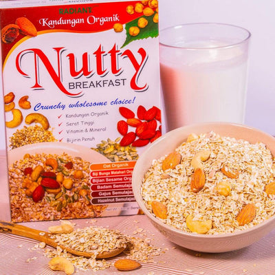 Radiant Nutty Breakfast Cereal, Flakes & Puffs Radiant-Whole-Food-Organic-Delivery KL-PJ-Malaysia