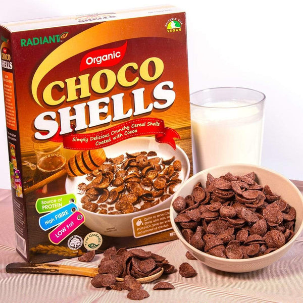 Radiant Organic Choco Shells Cereal, Flakes & Puffs Radiant-Whole-Food-Organic-Delivery KL-PJ-Malaysia