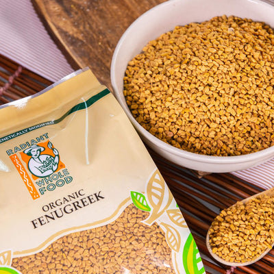 Radiant Organic Fenugreek Nuts and Seeds Radiant-Whole-Food-Organic-Delivery KL-PJ-Malaysia