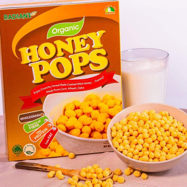 Radiant Organic Honey Pops Cereal, Flakes & Puffs Radiant-Whole-Food-Organic-Delivery KL-PJ-Malaysia