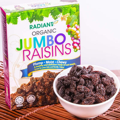 Radiant Organic Jumbo Raisins Dried Fruit Radiant-Whole-Food-Organic-Delivery KL-PJ-Malaysia
