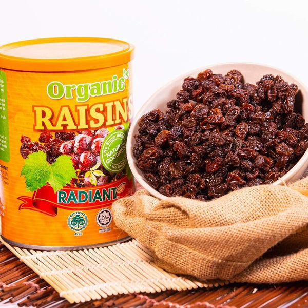 Radiant Organic Raisins (Tub Container) Australia Dried Fruit Radiant-Whole-Food-Organic-Delivery KL-PJ-Malaysia