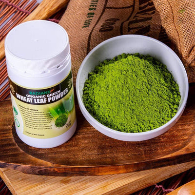Radiant Organic Wheat Leaf Powder Supplements Radiant-Whole-Food-Organic-Delivery KL-PJ-Malaysia
