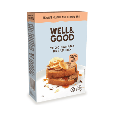 Well & Good Chocolate Banana Swirl Bread Mix Baking Mixes & Ingredients Radiant-Whole-Food-Organic-Delivery KL-PJ-Malaysia