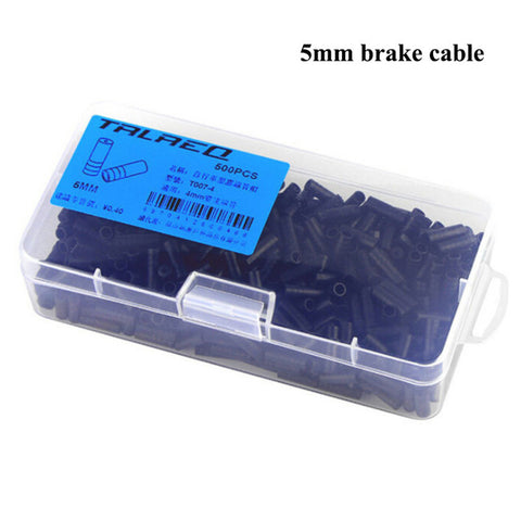100 X Bike Bicycle Brake Gear Outer Cable End Caps Tips Crimps 5MM