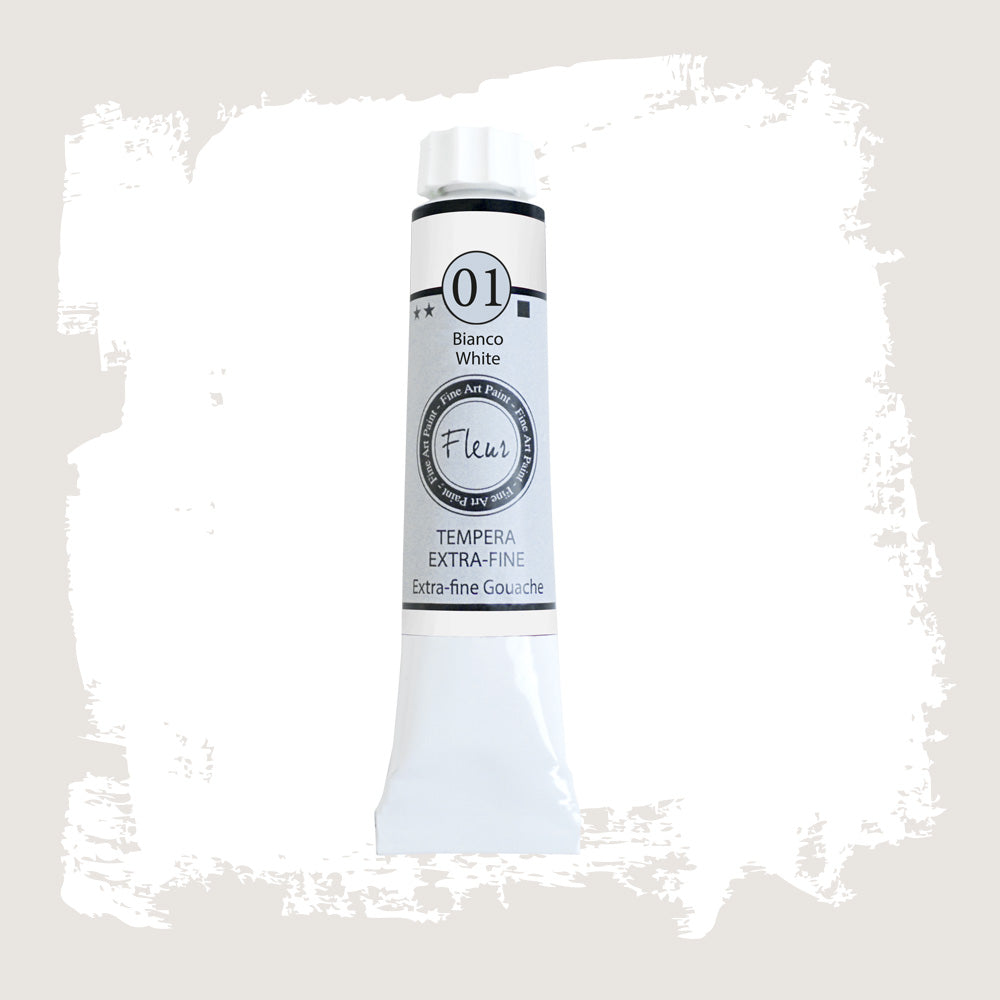 N. 1 Tempera Fluer White 20 ml.