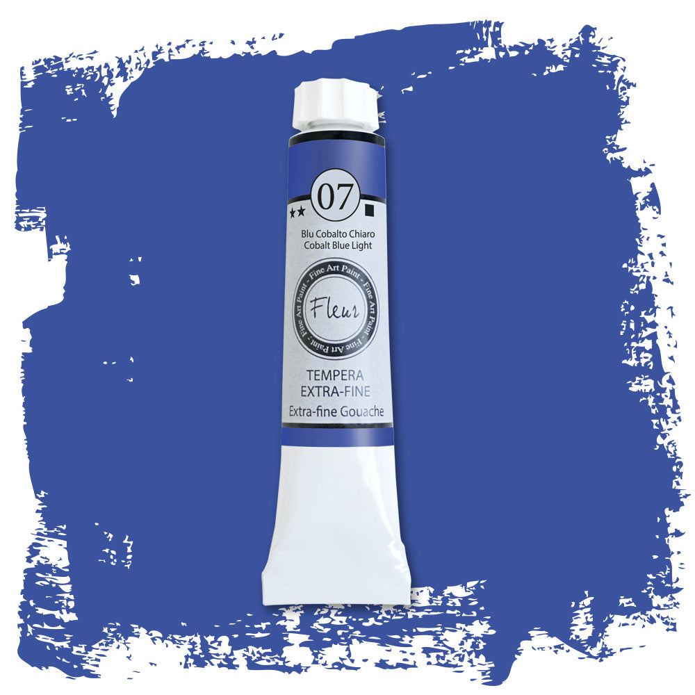 N. 7 Tempera Fluer Cobalt Blue Ligth 20 ml.