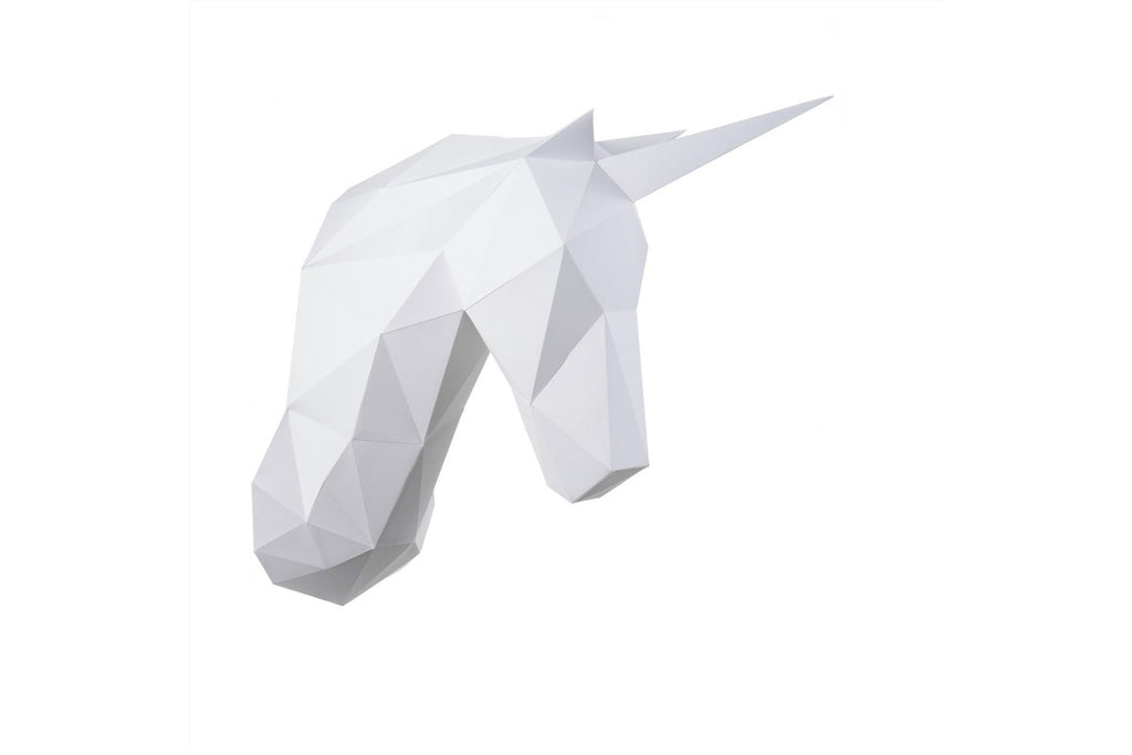 Unicorn low polygon papercraft kit