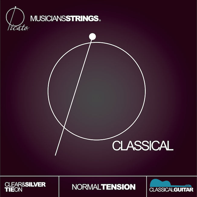 Classical Guitar Strings - Clear & Silver - Tie On
