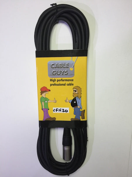 Cable Guys Microphone Lead 6.3mm Jack-XLRm - 6m (20ft)