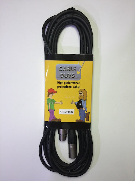 Cable Guys Microphone Lead XLRf-XLRm - Black - 6m (20ft)