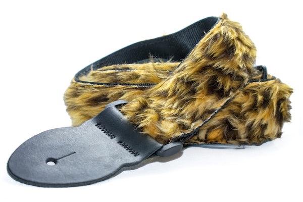 Guitar Strap - Fun Fur - Leopard