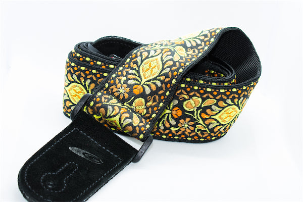 Guitar Strap - Jacquard - Yellow & Orange