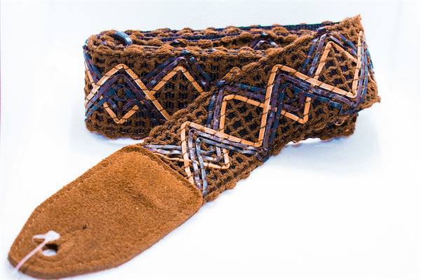 Guitar Strap - String Weave - Brown