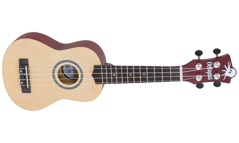Octopus Soprano Yellow Natural Ukulele