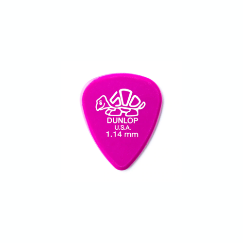 Dunlop Pick - Delrin - Magenta 1.14mm - Pack of 12