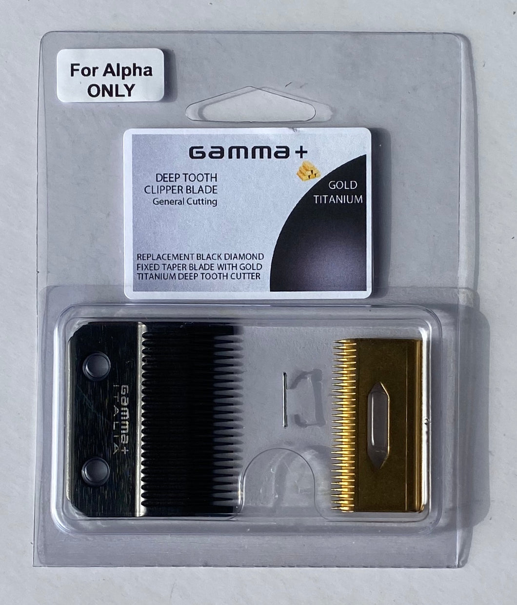Absolute Alpha Gold Titanium Fixed Taper Blade