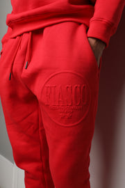 Candy Red Slim Fit Jogger Set