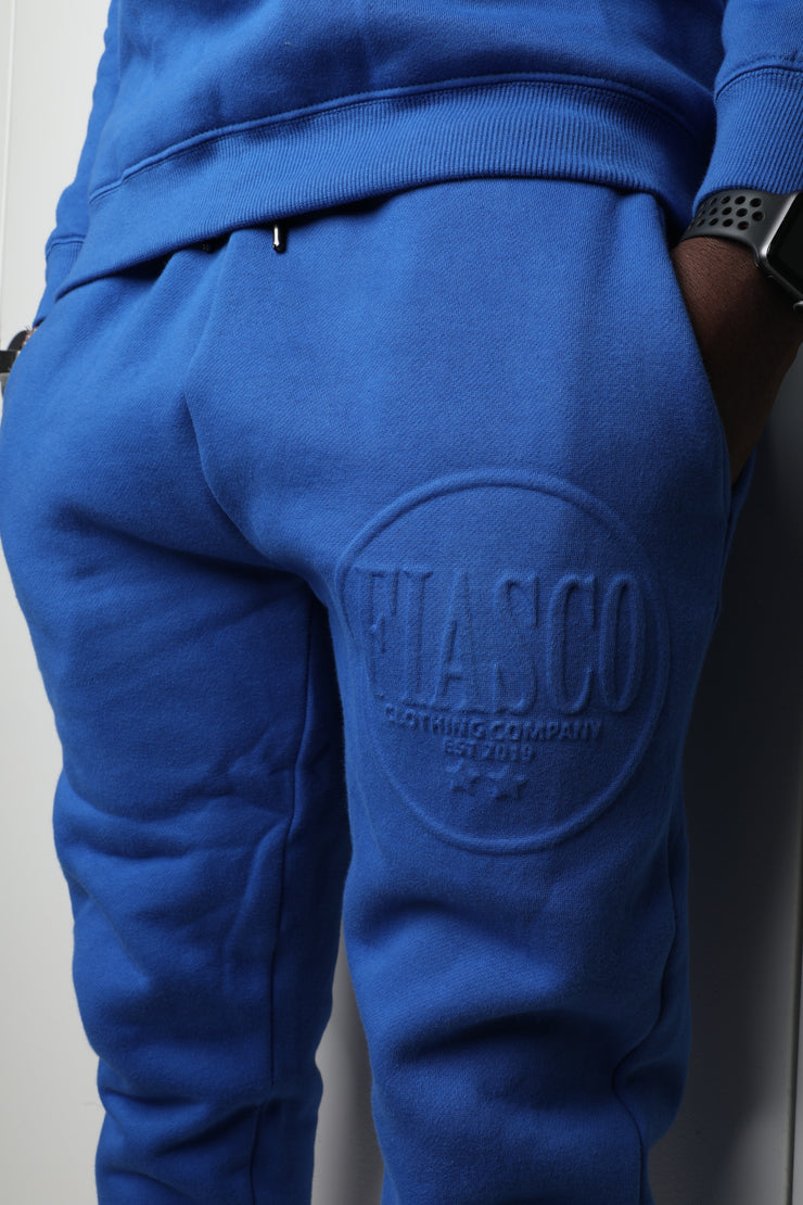 Royal Blue Slim Fit Jogger Set
