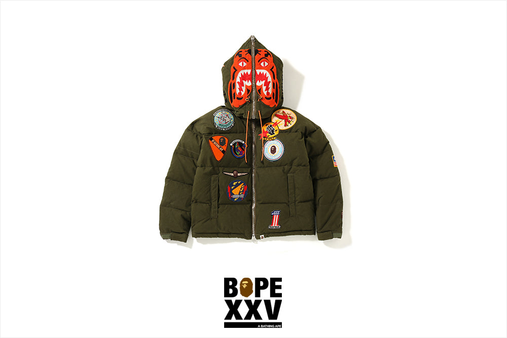 BAPE® X READYMADE TIGER HOODIE DOWN JACKET